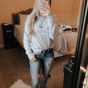 Delta Tops - Gray Long Sleeve Austin Texas T-Shirt